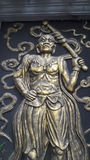 Statua przy świątynią Fotografia Stock