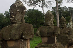 Statua przy Angkor Wat Zdjęcia Stock