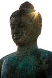 Statua przy Borobudur Buddyjską świątynią, Jawa wyspa, Indonezja Zdjęcie Royalty Free