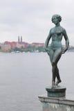 Statua przy bulwarem blisko Urząd Miasta Zdjęcia Stock