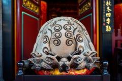 Statua przy Confucius świątynią w Taipei, Tajwan fotografia royalty free