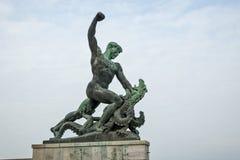 Statua przy cytadelą Gellert w Budapest 02 Obrazy Stock