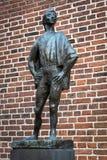 Statua przy Dom kościół Utrecht Obrazy Stock
