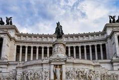 Statua przy piazza Venezia Obraz Royalty Free