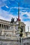 Statua przy piazza Venezia Obrazy Stock
