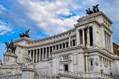Statua przy piazza Venezia Zdjęcia Stock