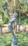Statua ragazza giardino di Daniel Stowe Fotografia Stock Libera da Diritti