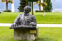 Statua Ray Charles, Montreux zdjęcia stock