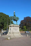 Statua Redvers Buller z ruchu drogowego rożkiem w Exeter, UK Obraz Stock