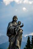 Statua religiosa bronzea Fotografia Stock Libera da Diritti