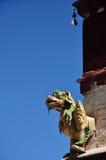 Statua religiosa della bestia nel monastero di Drepung Fotografia Stock Libera da Diritti