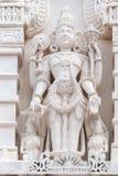 Statua religiosa fuori dei BAPS Shri Swaminarayan Mandir del tempio indù a Houston, TX immagini stock libere da diritti