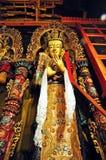 Statua religiosa nel monastero di Drepung Immagine Stock