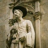 Statua religiosa Siena Fotografia Stock Libera da Diritti
