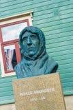 Statua Roalf Amundsen w Tromso, Norwegia Fotografia Royalty Free