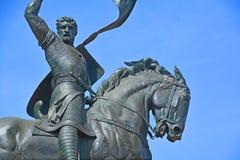 Statua Rodrigo Diaz De Vivar fotografia stock