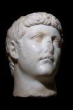 Statua romana di Caesar isolata fotografie stock libere da diritti