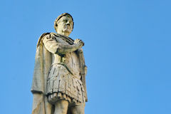 Statua romana nel bagno, Inghilterra Fotografie Stock Libere da Diritti