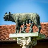 Statua Romulus, Remus i Kapitoliński wilk, Obrazy Stock
