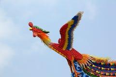 Statua rossa del cigno (uccello) Fotografie Stock Libere da Diritti