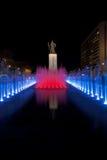 Statua rossa di Sun-Peccato di Yi della fontana Fotografia Stock