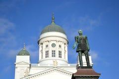 Statua Rosyjski car Aleksander II, Helsinki fotografia royalty free