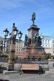 Statua Rosyjski car Aleksander II, Helsinki obraz royalty free