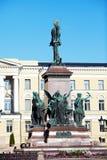 Statua Rosyjski car Aleksander II, Helsinki zdjęcie stock