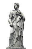 Statua rzeźba mężczyzna z brodą na białym tle zdjęcie stock