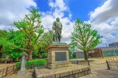 Statua Saigo Takamori zdjęcie royalty free