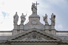 Statua San Giovanni w Laterano bazylice Roma Obrazy Royalty Free