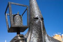 Statua San Luis Potosi Mexico di Procesion del Silencio Immagine Stock