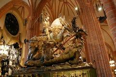 Statua sant George Zdjęcia Stock