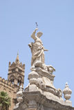 Statua Santa Rosalia, Katedra Palermo Zdjęcia Stock