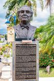 Statua/scultura dell'eroe nazionale giamaicano Sir Alexander Bustamante fotografia stock libera da diritti