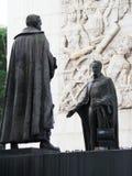 Statua Simon Bolivar i inni bohaterzy niezależność, niezależność zabytek, Los Proceres, Caracas, Wenezuela zdjęcie stock