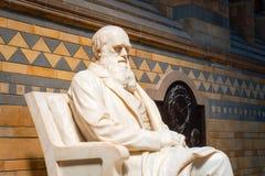 Statua Sir Charles Darwin przy historii naturalnej muzeum w Londyn obrazy stock