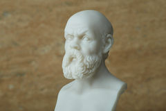 Statua Socrates, starożytnego grka filozof Zdjęcia Stock