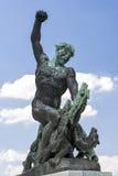 Statua sopra la collina di Gellert, Budapest, Ungheria immagine stock libera da diritti