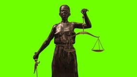 Statua sprawiedliwość - damy Iustitia lub sprawiedliwość Romańska bogini sprawiedliwość zbiory