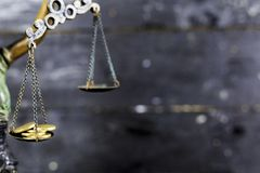 Statua sprawiedliwość - damy sprawiedliwość, Iustitia lub Justitia/ fotografia royalty free