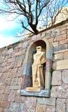 Statua St George - szczegół dekoracja monaste Obraz Stock