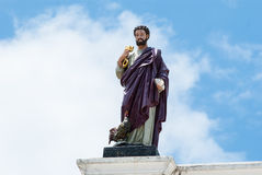 Statua St Peter przy kościół katolickim Obraz Royalty Free