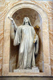 Statua St Scholastica przy bazyliki Papale San Paolo fuori le Mura Fotografia Royalty Free