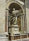 Statua St Veronica & przesłona przy St Peter ` s bazyliką zdjęcie royalty free