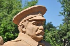 Statua a Stalin immagini stock