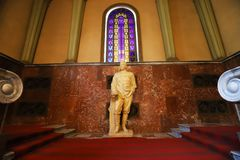 Statua Stalin, Gori, Gruzja fotografia royalty free