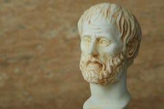 Statua starożytnego grka filozof Aristotle Zdjęcia Royalty Free