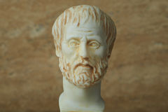 Statua starożytnego grka filozof Aristotle Obrazy Stock