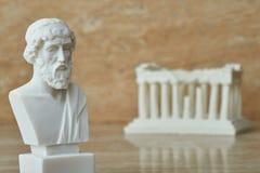 Statua starożytnego grka filozof Plato Zdjęcia Royalty Free